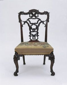 Date: 1850--1880 (made)  Artist/Maker: chippendale, born 1718 - died 1779 (after Chippendale, designer)  Materials and Techniques: Carved ma...