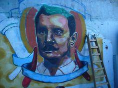 realizando el mural de salón berlin (Palermo) bs. as.... por elmarian & pablokno