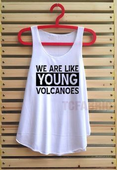 fall out boy young volcanoes shirt fall out boy loose fit tank top clothing vest tee tunic singlet women shirt - size S M L on Etsy, $14.99