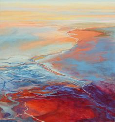 """Paintings by Philip Govedare - Flood, oil on canvas, 59"""" X 56"""", 2009"""