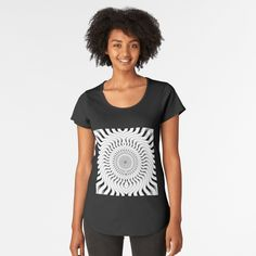 Premium Scoop T-Shirt by dahleea Cotton Tote Bags, Chiffon Tops, T Shirts For Women, 2d, Stuff To Buy, Fashion, Scary Things, Cards, Moda