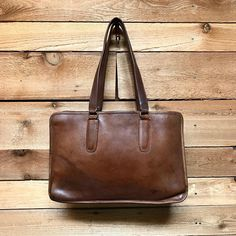 Vintage NYC Coach Bonnie Cashin Era Large Satchel Tote Bag Vtg Tan Brown  Leather Laptop Travel Work Made in New York City, USA 9e117a4371
