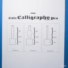 How to make a calligraphy pen from a cola can - howto Calligraphy Supplies, Calligraphy Handwriting, Calligraphy Pens, Islamic Art Calligraphy, Penmanship, Graffiti Tagging, Writing Pens, Pen Nib, Hand Lettering