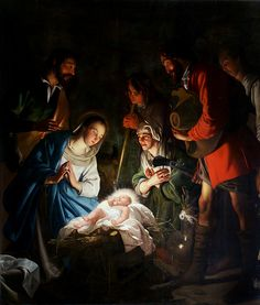 Adoration of the Shepherds by Jacob van Oost