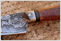 cable damascus knife from South America.