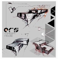 Professional Architecture Portfolio by Anique Azhar, via Behance