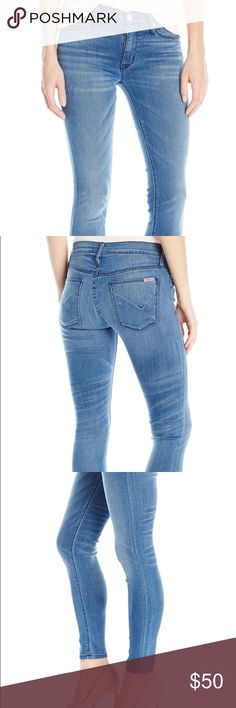 Hudson nico mid rise super skinny jeans These are the most flattering jeans. Dress them up or pair them with sandals and a boyfriend tee. Hudson Jeans Jeans Skinny