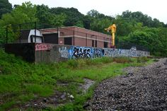 Viewing graffiti in Richmond for removal #graffiti #graffitiremoval #RVA #graffiti