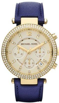 Michael Kors Leather Ladies Watch - Lyst
