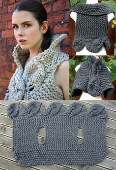 Crochet Top (looks like it is actually knitted) Gilet Crochet, Crochet Jacket, Crochet Shawl, Knit Vest, Knit Shrug, Booties Crochet, Blanket Crochet, Crochet Woman, Love Crochet