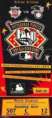 1994 MLB All-Star Game, Three Rivers Stadium, Pittsburgh, PA