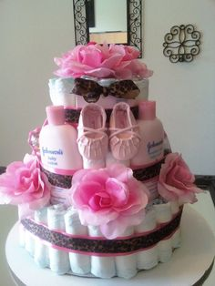 Custom Cake for a girl!! baby shower idea!!! love it