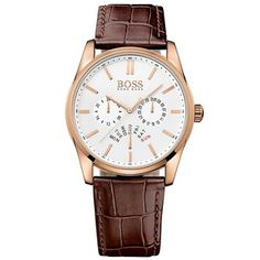5a4b7e269 Leather Mens Watch 1513125 Hugo Boss Watches, Watches For Men, Men's Watches,  Brown.