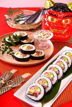 節分2012恵方巻き☆海鮮&豚キムチーズ