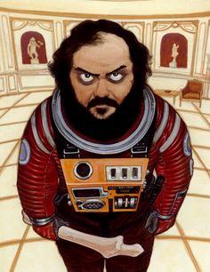 Duas inspirações em apenas um desenho: Stanley Kubrick pelo olhar de Katsuhiro Otomo, outro mestre.