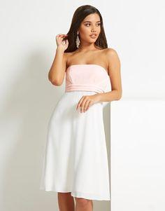 Naf Naf Colour Block Bustier Dress