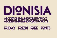 Friday Fresh Free Fonts - Quizma, Charming, Dionisia