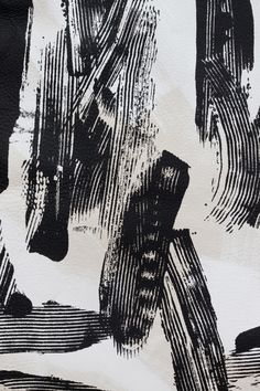 Monochrome mark making inspiration with graphic strokes; surface pattern design // Studio Moon