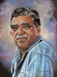 """Una idea, mucho arte """"No llores porque ya se terminó, sonríe porque sucedió"""" Gabriel García Márquez Pastel sobre papel canson, 51 x 32 cm Autor  Manuel Melero"""