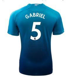 Adult #5 GABRIEL Arsenal Away Blue Soccer Jersey 2017/18 Arsenal Jersey, Gabriel, Soccer, Sports, Blue, Shopping, Fashion, Hs Sports, Moda