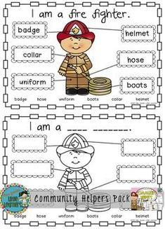 Best selling Community Helpers pack now UPDATED! by Miss Jacobs Little Learners Community Jobs, Community Workers, Community Helpers Worksheets, Teaching Social Studies, Teaching Resources, People Who Help Us, Primary School Teacher, Math Groups, Thematic Units