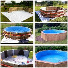 DIY Pallet Swimming Pool - Tutorial