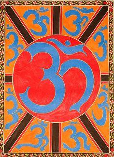 "vintage-hippie: "" thelittlesea:Om or Aum: The CosmicVibration "" Spiritual Symbols, Spiritual Life, Hindu Symbols, Mantras Chakras, Peacock Quilt, Om Art, Om Sign, Affirmations, Om Shanti Om"
