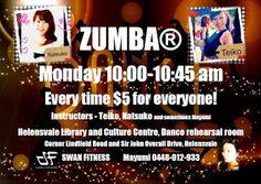A new ZUMBA lesson will start from the 12th of October (Term 4)!! @ Helensvale Library and Culture Centre, Dance rehearsal room Every Monday 10:00-10:45 Every time $5 for everyone!! Instructors- Teiko, Natsuko, and sometimes Mayumi Mayumi 0448-012-933 新しくヘレンズベイルでZUMBAレッスンを始めることにしました。 10月12日(月)、ターム4からスタートです。 毎週月曜 10:00~10:45 ヘレンズベイル図書館のあるカルチャーセンター1階の鏡のあるダンスリハーサルルームです。 インストラクター:Teiko、Natsuko、そして時々Mayumi  どなた様も$5でご参加いただけます!! お待ちしております!!