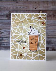 Mint Owl Studio, card making, coffee card, stamps, clear stamps, paper crafts