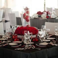 decoracion blanco negro y rojo