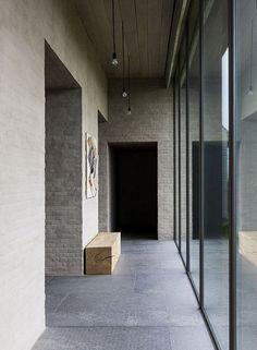 Flemish Rural Architecture - House in Zwevegem by Vincent Van Duysen New Interior Design, Interior Design Inspiration, Interior And Exterior, Minimalist Architecture, Interior Architecture, Architecture Awards, Industrial Interiors, Vestibule, House Design