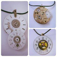 Unika halsband tillverkade av gamla klockdelar. CARL LIND URDESIGN