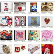 Raggedy Ann Dolls Have a Lot of #Heart by Jeanne  http://etsy.me/17z88A7   @Etsy #treasury #etsyfinds #jewelryonetsy #jewelry #jewellery #Valentine #primitiveart #artdolls #trending #uniquegifts