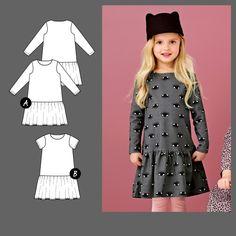 Knitting Patterns, Sewing Patterns, Crochet Patterns, Sewing Class, Sewing For Kids, Clothing Patterns, Tween, Kids Girls, Short Sleeve Dresses