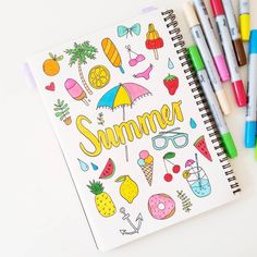 Summer handlettering and illustration by Luloveshandmade.