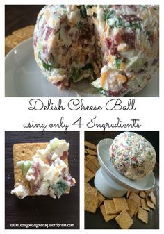 Easiest and most delicious cheese ball using only 4 ingredients