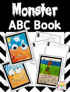 Monster Art and Monster ABC Book Freebie - Classroom Freebies Monster Activities, Halloween Activities, Halloween Projects, Writing Activities, Projects For Kids, Art Projects, Second Grade Writing, 2nd Grade Art, Easy Art Lessons