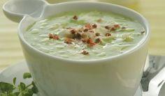 Σούπα λαχανικών βελουτέ με μπακαλιάρο