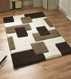 Think Rugs Fashion 7646 Rug in Ivory and BrownSophia Carpet 72 x 108 inchMy House Velvet Carpet in Black and white colour Shag Carpet, Diy Carpet, Modern Carpet, Modern Rugs, Rugs On Carpet, Carpet Flooring, Rug Hooking Designs, Crochet Rug Patterns, Diy Pencil Case