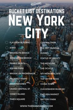 New York City Bucket List. Save this pin for travel inspiration later, and click… New York City Bucket List. Save this pin for travel inspiration later, and click the link for more East Coast travel tips! Packing Tips For Travel, Travel List, Travel Goals, Maui Travel, Travel Checklist, India Travel, Usa Travel, Travel Essentials, Time Travel