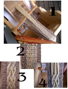 Floating warp weaving with ridged heddle
