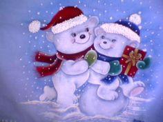 Pintura em tecido - ursos na neve | Flickr – Compartilhamento de fotos!