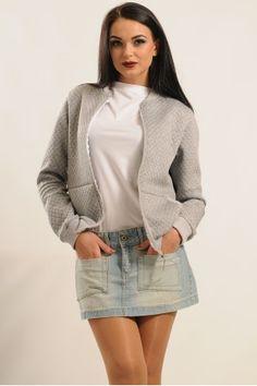Бомбер жіночий «Річі» сірого кольору Turtle Neck, Sweaters, Fashion, Moda, Fashion Styles, Sweater, Fashion Illustrations, Sweatshirts, Pullover Sweaters