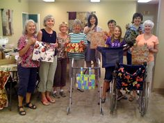 """Hold a """"Sew In"""" -- sew 'pocket bags' for wheelchairs and walkers that can be given to disabled children and adults"""