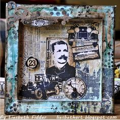 Mixed media canvas: Oxford Impressions stamps.
