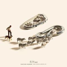 ". 6.14 sun ""Shepherd"" . 羊量が悪い羊飼い。 . . #カラビナ #羊 #carabiner #sheep"