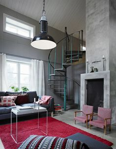 Industrial styled inspiration from the Swedish Sköna Hem magazine.
