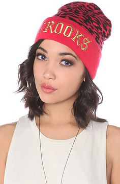 The Cheater Beanie in Hot Pink by Crooks and Castles #Karmaloop