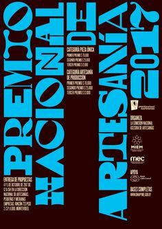 Poster for the Uruguayan National Crafts Award (Premio Nacional de Artesanía).