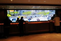 See what's happening outside just buy peeking behind the concierge counter and the real-time...
